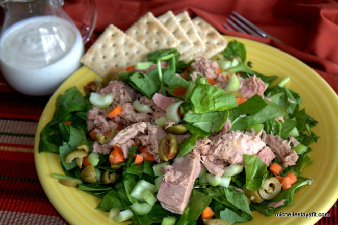 Spinach Salad with Tuna from home
